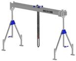 33960045 Wciągarka bramowa aluminiowa z wózkiem pchanym i wciągnikiem łańcuchowym miproCrane DELTA 500S (udźwig: 1500 kg, szerokość: 7100 mm, wysokość: 2240/3660 mm)