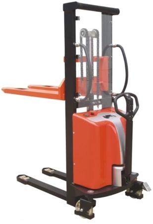 DOSTAWA GRATIS! 00546291 Wózek podnośnikowy półelektryczny (udźwig: 1500 kg, min./max. wysokość wideł: 85/3500 mm)