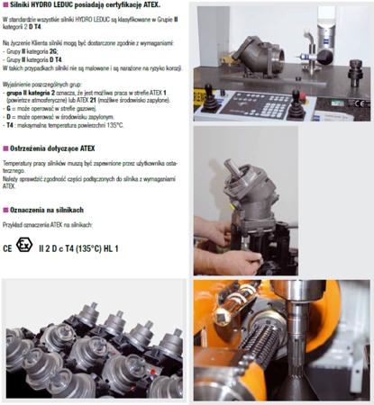 DOSTAWA GRATIS! 01538913 Silnik hydrauliczny wielotłoczkowy osiowy Hydro Leduc (objętość robocza: 63 cm³, maks. prędkość ciągła: 5000 min-1 /obr/min)