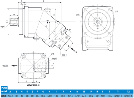 DOSTAWA GRATIS! 01539162 Pompa hydrauliczna tłoczkowa o stałej wydajności Hydro Leduc (obj geometryczna: 108cm³, prędkość obrotowa: 1600min-1/obr/min)
