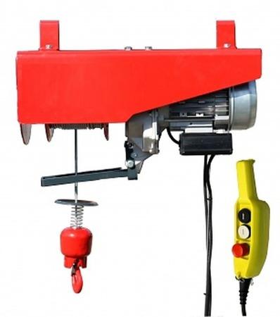 DOSTAWA GRATIS! 08126406 Wciągarka elektryczna linowa budowlana + lina 30m + sterowanie ręczne 1,5m (udźwig: 300 kg)