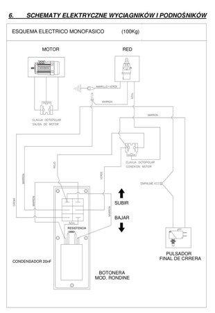 DOSTAWA GRATIS! 08126409 Wciągarka elektryczna linowa budowlana + lina 30m + sterowanie ręczne 1,5m (udźwig: 300kg)