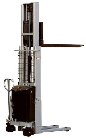 DOSTAWA GRATIS! 310512 Wózek podnośnikowy z częściowym napędem elektrycznym (maszt podwójny, wysokość podn. maks: 2450mm, udźwig: 1000 kg)