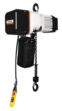 DOSTAWA GRATIS! 32269314 Elektryczna wciągarka łańcuchowa hakowa Unicraft z dwoma prędkościami podnoszenia (udźwig: 2 T, wysokość podnoszenia: 6m)