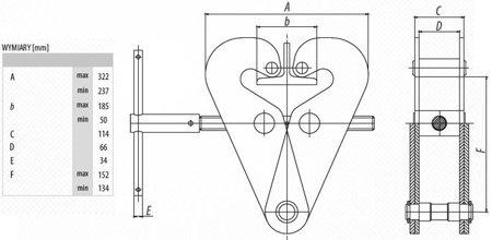 DOSTAWA GRATIS! 9588177 Zawiesie klamrowe do wciągników (udźwig: 6,3 T)