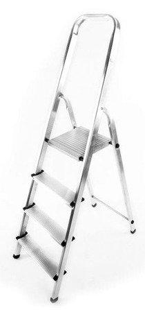 DOSTAWA GRATIS! 99674634 Drabina domowa aluminiowa jednostronna 6 stopniowa (wysokość robocza: 3,30m)