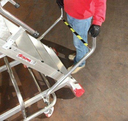 DOSTAWA GRATIS! 99675092 Drabina magazynowa FARAONE 10 stopniowa z elektrycznym podestem ładunkowym (wysokość robocza: 4,23m)