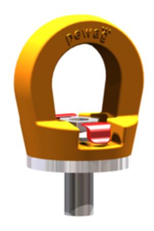 IMPROWEGLE Śruba z uchem obrotowym PLGW 12t M48 (udźwig: 12 T, gwint: M48) 33948563
