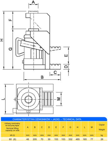 Podnośnik z bocznym podnoszeniem (udźwig: 6T) 62725743