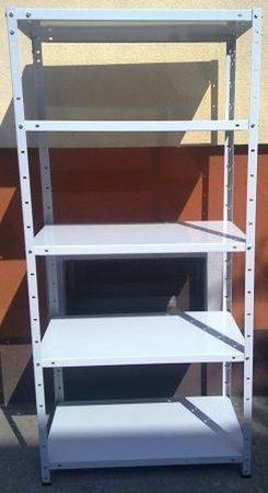 Regał metalowy, 6 półek (wymiary: 3000x900x800 mm, obciążenie półki: 150 kg) 77156800