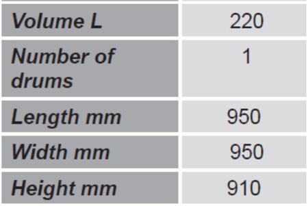 SWARK Paleta do transportu beczek z barierkami bezpieczeństwa GermanTech (ilość beczek: 1, wymiary: 950x950x910 mm) 99724716