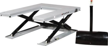 """Stół podnośny niskoprofilowy w kształcie litery """"U"""" (udźwig: 1000 kg, wymiary platformy: 1140x1450 mm, wysokość podnoszenia min/max: 85-860 mm) 310529"""
