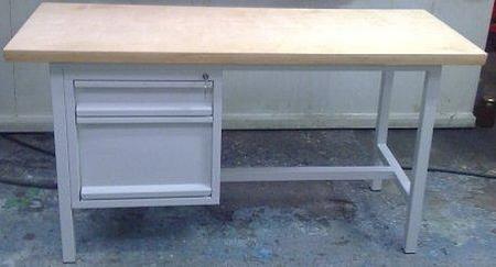 Stół warsztatowy, 1 szuflada, 1 szafka (wymiary: 1200x600x800-900 mm) 77156920