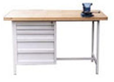 Stół warsztatowy, 5 szuflad (wymiary: 1500x750x900 mm) 77156841