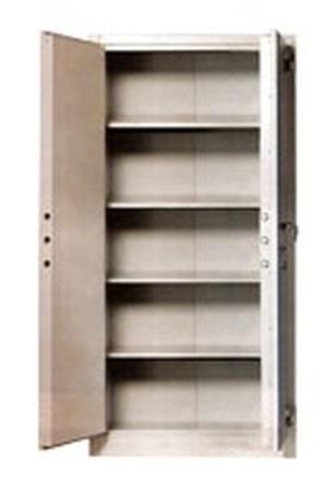 Szafa biurowa wzmocniona, 1 drzwi, 4 półki z blachy (wymiary:  1800x900x460 mm) 77157067