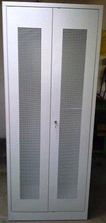 Szafa odzieżowa, 2 drzwi perforowane (wymiary: 2000x800x500 mm) 77157032