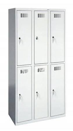 Szafer Szafka ubraniowa socjalna 6 komór (wymiary: 1800x900x500 mm) 15076465