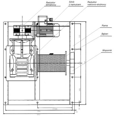 Treton Elektryczna wciągarka linowa (siła uciągu: 1900/2600 kg) 28850138