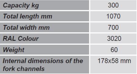 Uchwyt do beczek na wózek widłowy GermanTech (udźwig: 300 kg) 99724856