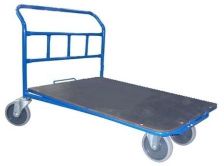Wózek platformowy ręczny jednoburtowy (koła: pełna guma 160 mm, nośność: 400 kg, wymiary: 1000x600 mm) 13340590