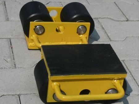 Wózek stały 2 rolkowy, rolki: 2x stal (nośność: 3 T) 12235588