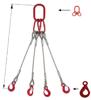 DOSTAWA GRATIS! 33948489 Zawiesie linowe czterocięgnowe miproSling LE 18,0/12,5 (długość liny: 1m, udźwig: 12,5-18 T, średnica liny: 28 mm, wymiary ogniwa: 275x150 mm)